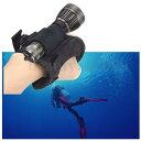 スキューバダイビング スノーケリング 用 30メートル 防水 水中ライト ライトホルダー付き フラッシュライト スピアフィッシング シュノーケリング ハンドスピア スキューバダイビング