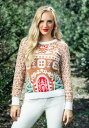Women's Gingerbread House Ugly Christmas Sweater ハロウィン レディース コスプレ 衣装 女性 仮装 女性用 イベント パーティ ハロウ..