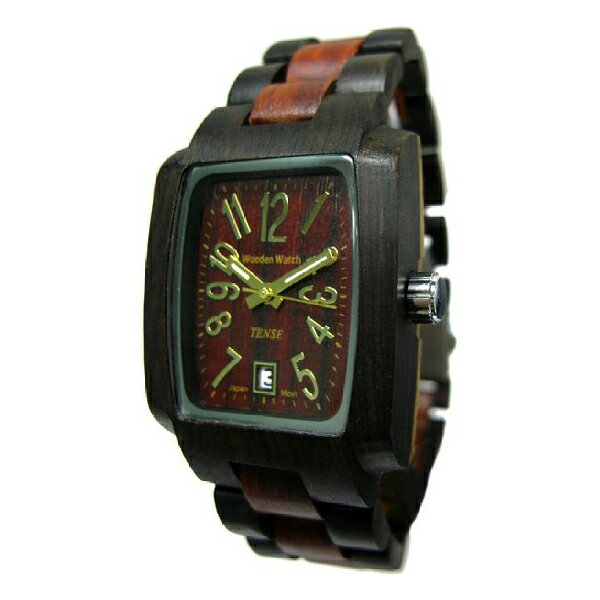 TENSE テンス木製腕時計 ウッドウォッチツートーン .ウッド メンズ J8102DS TENSE テンス 木製 腕時計 カナダ ウッド ウォッチ 時計 木目