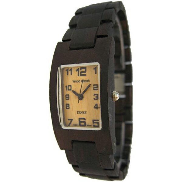 TENSE テンス木製腕時計 ウッドウォッチサンダルウッド メンズ G8102D:Mars shop オンライン TENSE テンス 木製 腕時計 カナダ ウッド ウォッチ 時計 木目