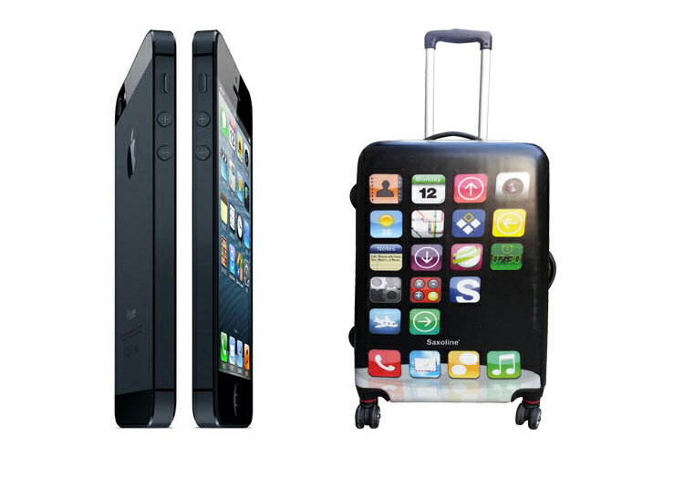 iPhone型コンパクト軽量スーツケース Sサイズ60cm旅行用品 旅行かばん スマホ スマートフォン TSAロック付きiPhone型 スーツケース 軽量 キャリーケース キャリーバッグ 旅行