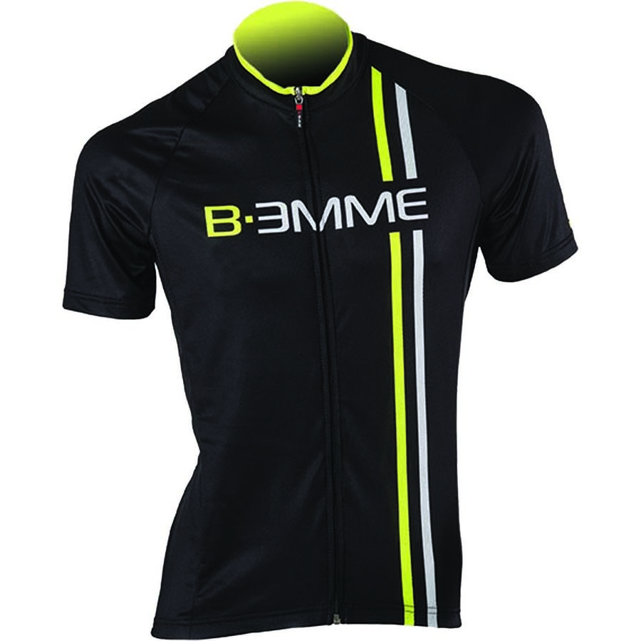 Biemme Sports Item 2 Jersey - Short-Sleeve - Men's Black Yellow Fluo White アウトドア メンズ 男性用 バイクウェア バイクジャージ 自転車 Biemme Sports Item 2 Jersey - Short-Sleeve - Men's