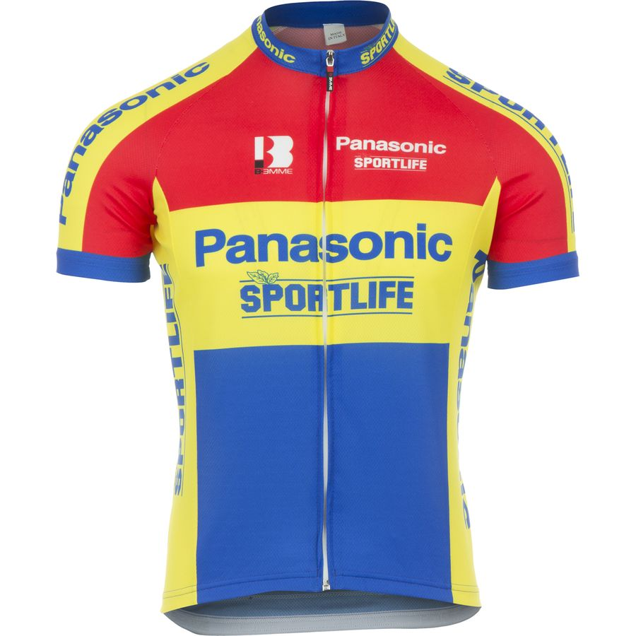 Biemme Sports Panasonic Vintage Kit - Men's Red Yellow Blue アウトドア メンズ 男性用 バイクウェア バイクジャージ 自転車 Biemme Sports Panasonic Vintage Kit - Men's
