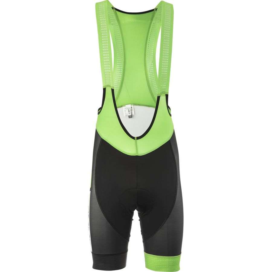 Biemme Sports Italia Bib Shorts - Men's Black Acid Green アウトドア メンズ 男性用 バイク 自転車 ビブショーツ Biemme Sports Italia Bib Shorts - Men's