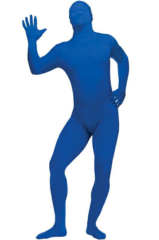 全身タイツ スキンスーツ 爆笑 一発芸 大人用コスチューム (Blue)/コスチューム/ハロウィン/コスプレ/衣装/仮装/大人用/面白い/2013年/学園祭/文化祭/学祭/大学祭/高校/イベント:Mars shop