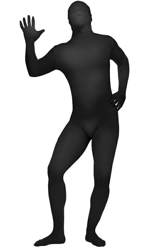 全身タイツ スキンスーツ 爆笑 一発芸 大人用コスチューム (Black)/コスチューム/ハロウィン/コスプレ/衣装/仮装/大人用/面白い/2013年/学園祭/文化祭/学祭/大学祭/高校/イベント:Mars shop