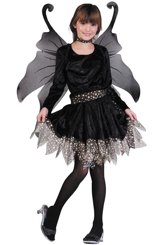 ハロウィン パーティ コスプレ Midnight Fairy 子供用 衣装 男の子 女の子 小学生 かわいい 面白い 妖精 Fairy 学園祭 文化祭 大学祭 コスチューム 変装 仮装:Mars shop