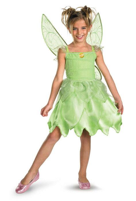 ディズニー コスプレ ハロウィン ディズニー ティンカーベル 女の子,子供用 衣装 ピーターパン 小学生 かわいい 面白い 妖精 学園祭 文化祭 大学祭 コスチューム Disney 仮装 変装:Mars shop