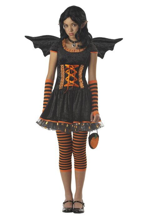 ハロウィン キャラクター コスプレ Strangeling パンプキン カボチャ Pixie Tween 衣装 男の子 女の子 小学生 かわいい 面白い 妖精 Fairy 学園祭 文化祭 大学祭 コスチューム 仮装 変装:Mars shop
