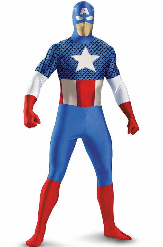 コスプレ コスチューム キャプテンアメリカ キャプテン・アメリカ マーベルヒーローズ Skinovations Captain America 全身タイツ ボディスーツ 子供用 衣装 男の子 女の子 小学生 かわいい 面白い ヒーロー 学園祭 文化祭 大学祭 ハロウィン 結婚式二次会 仮装 変装:Mars shop