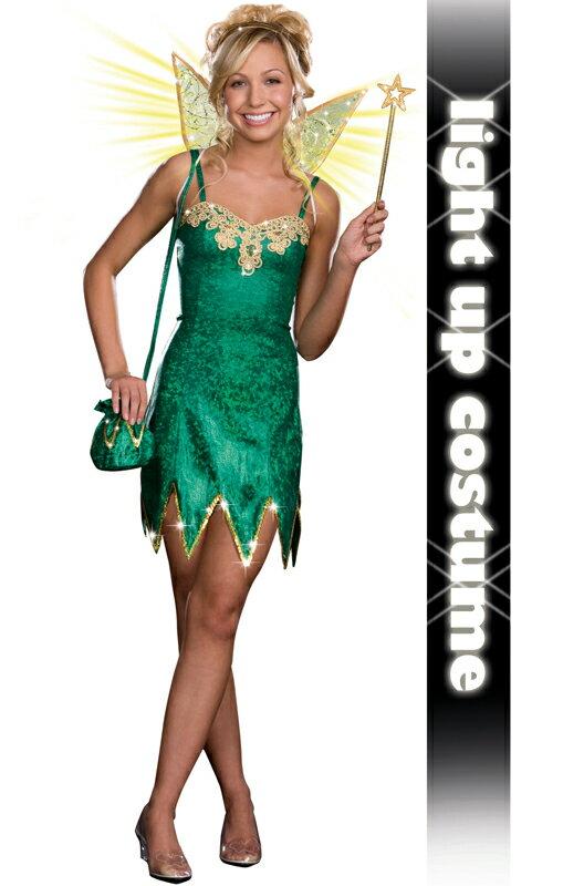コスプレ コスチューム Pretty Pixie ティーンサイズ 衣装 大人用 面白い 妖精 Fairy 学園祭 文化祭 大学祭 ハロウィン 結婚式二次会 仮装 変装:Mars shop
