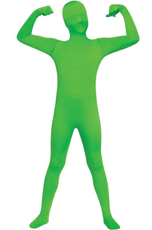 ハロウィン キャラクター コスプレ 全身タイツ スキンスーツ 爆笑 一発芸 ティーンサイズ Costume (Green) 衣装 大人用 面白い 2013年 学園祭 文化祭 大学祭 コスチューム 仮装 変装:Mars shop