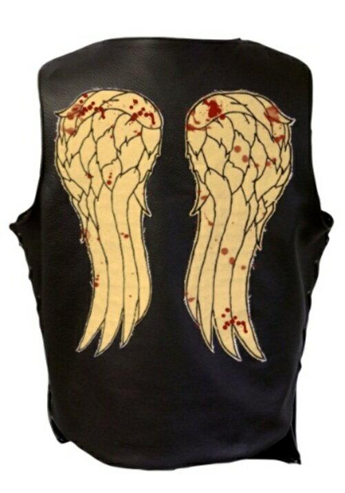 コスプレ ハロウィン WALKING DEAD DARYL DIXON LEATHER VEST 大人用 メンズ 男性用 衣装 衣装 学園祭 文化祭 コスチューム 仮装 変装