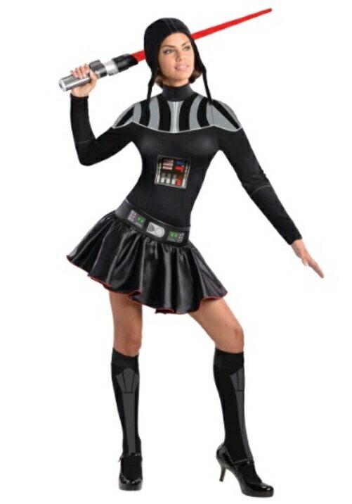学祭; 图: ハロウィン キャラクター コスプレ ダースベイダー Darth Vaderドレス 大人用 レディス 女性用 衣装 ドレス  ワンピース