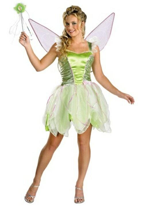 コスプレ コスチューム ティンカーベル 妖精 天使 大人用 女性用 衣装 ドレス ワンピース ディズニーランド 衣装  学園祭 文化祭 ハロウィン 結婚式二次会 仮装 変装:Mars shop