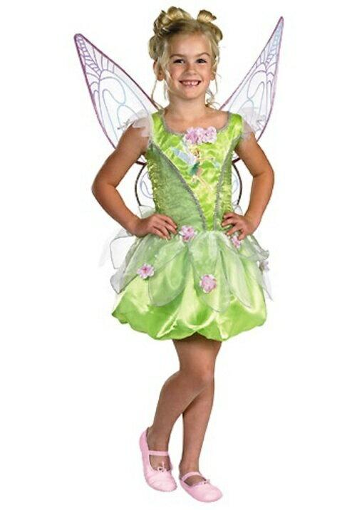 ハロウィン キャラクター コスプレ PRESTIGEティンカーベル 妖精 天使 子供用 女の子 衣装 ドレス ワンピース ディズニーランド 衣装 学園祭 文化祭 コスチューム 仮装 変装:Mars shop