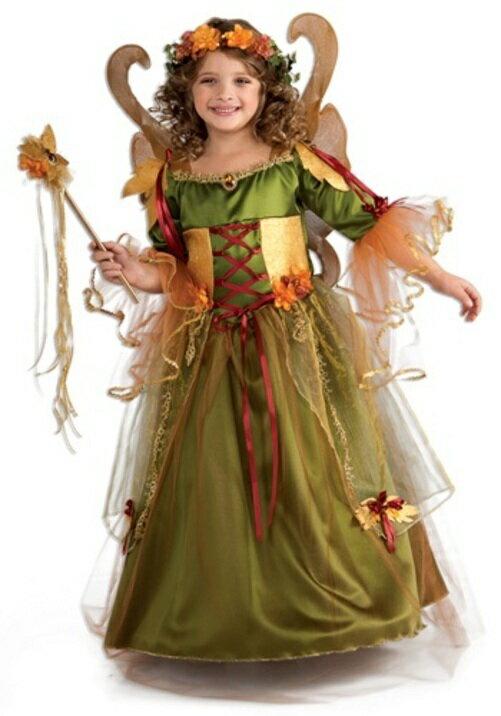 ハロウィン パーティ コスプレ FOREST 妖精 フェアリークイーン 王女様 お姫様 子供用 女の子 衣装 ドレス ワンピース ディズニーランド 衣装  学園祭 文化祭 コスチューム 変装 仮装:Mars shop