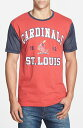 Wright & Ditson 'St. Louis Cardinals - Gym Class' Mesh Sleeve T-Shirt 男性 メンズ Tシャツ