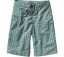 パタゴニア Patagonia Wavefarer Shorts - Sharks Teeth Tobago Blue 水着