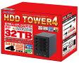 スロットで5000Pゲットのチャンス!【訳あり】 箱つぶれ品【最大16TB対応 HDD4台収納のTOWERケース】MAL-3035SBKU3 USB3.0 MARSHAL