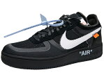 NIKE AIR FORCE 1 LOW THE 10 OFF-WHITE ナイキ エア フォース1 ロー オフホワイト 黒白 スニーカー メンズ BLACK WHITE