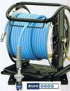 フジマックマッハスムージーホースドラム常圧用1.5Mpa長さ30mNDSG-730Cスチール製:回転台なしストッパーカプラ付  エアーホースドラム内径7mm×外径10.0mm