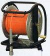 フジマックマッハ エアーホースドラム高圧用3.0Mpa長さ30mオレンジ:NHD-530TC/ホワイト:WHD-530TCスチール製:回転台つきロック一発カプラ  エアーホースドラム内径5.0mm×外径9.0mm【送料無料】