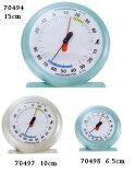 シンワ温湿度計 10cm Q-2ライトブルー/ライトグレー