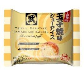 フードレーベル つきじ丸武玉子焼スイーツ 玉子焼味シューアイス 70ml ×24個