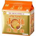 東洋水産 マルちゃん正麺 味噌味 5食×6袋入 30食