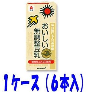 キッコーマン おいしい無調整豆乳 1000ml  6本 (常温保存可能) [その他]