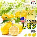 ★アメリカ産 生 レモン8玉★ 生レモン レモネード カクテル レモンハチミツ漬け lemon れもん 飲み物 ビタミンC
