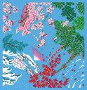 ショッピングランチボックス 風呂敷 エコバッグ 大判 ふろしき 日本の四季 112cm 綿 日本製 きれいい 上品 おしゃれ 和 コットン ギフト プレゼント お弁当箱 エコ
