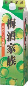 s【送料無料】梅酒家族 10度 1800ml紙パ...の商品画像