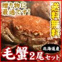 北海道産毛ガニ 毛蟹 カニ 400g前後×2尾入