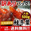 【メール便♪送料無料】北海道珍味の王様!鮭冬葉!(トバ・とば)訳ありで超大盛り!大量500グラム入【代引不可・着日指定不可・同梱不可】