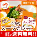 【メール便 送料無料】札幌の食卓 うちのスープカレー(濃厚エビ) 2食(50g×2袋入) MIXスパイス1g×2袋付