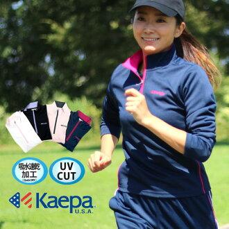 Kappa 服裝運動服運動 T 恤 zip 婦女的汗水乾燥長袖 t 恤