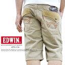 EDWIN/エドウィン〜-〜 レインボーステッチ フラップポケット 『キナリ』 ハーフパンツ