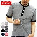 ヘンリーネック サーマル 半袖 Tシャツ Healthkni...