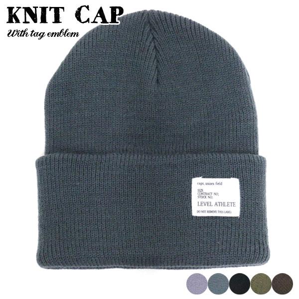 帽子 メンズ 冬 アクリル100% 全5色