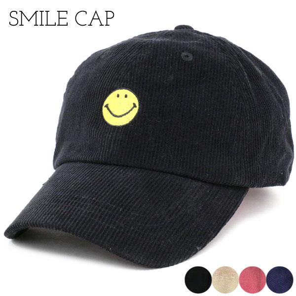 帽子 メンズ 冬 スマイル刺繍 ブラック/ベージュ/ピンク/ネイビー 【q2】