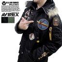 送料無料 AVIREX アヴィレックス #6132057 〜ナイロンツイル素材〜 A.C.C.PATCHED N-3B パッチド フライトジャケット