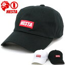 NESTA BRAND 帽子 メンズ 夏 綿100% ホワイト/ブラック