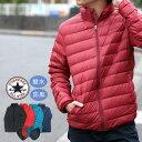 コンバース ダウンジャケット メンズ 冬 軽量 防風 撥水加工 収納袋付き ブラック/レッド/ブルー/ネイビー M/L/LL