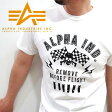 ALPHA INDUSTRIES アルファ 23222-11 〜天竺素材〜 全2色!『髑髏』×『爆弾』REMOVE BEFORE FLIGHT 半袖Tシャツ