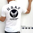 新柄追加!楽天ランキング1位獲得!Beaumere/ボーメール 〜鹿の子素材〜 全14柄! U.S.A.F.エアフォース 半袖ポロシャツ【マルカワ/ユーエスネイビー/エアフォース/マリンコープ/米軍/アメリカン/AIRFORCE/USAF/激安/ALPHA/NAVY/所/USA/ポロシャツ】