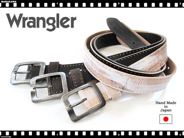 Wrangler ラングラー レーザー彫りサイド金箔ベルト