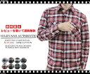 Gilevans Authentic/ビエラチェック長袖シャツ【チェックシャツ/ネルシャツ/ワークシャツ/カジュアルシャツ/バッファローチェック/タータンチェック/ギャンバートカスタム/check shirt/メンズ/Men's】