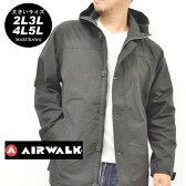 大きいサイズ メンズ マウンテンパーカー AIRWALK【キングサイズ 2L 3L 4L 5L マルカワ エアウォーク パーカー フード ジャケット ストリート】